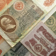 Old soviet banknotes - Stock Photo