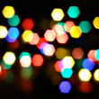 Stock Photo: Christmas lights abstract background