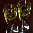 Two glasses of champagne - Stockfoto