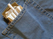 Cigarettes pack within pocket — Stock Photo
