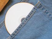 Beyaz cd — Stok fotoğraf