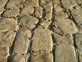 Old stone road — Stock Photo