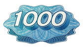 Jeden tisíc číslo — Stock fotografie