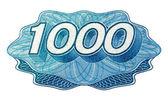 Número 1 mil — Foto de Stock