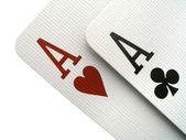 Two aces — Stock Photo