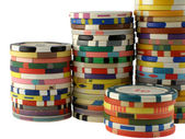 Casino chips stacks — Stock Photo