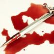 Dradder and blood — Stock Photo