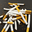 Crushed cigarettes — Stock Photo