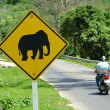 Stock Photo: Elephant sign