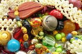 Colourful jewelry , beads ,bracelet , — Stock Photo