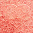 Pink love heart background - Stock Photo