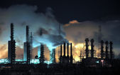 Grangemouth Refinery at Night — Stock Photo