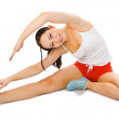 Fitness young woman - Stock Photo