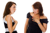 Two young woman — Stock Photo