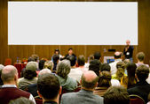 Conference hall full of participa — Stockfoto