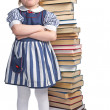 Stock Photo: Little girl with book