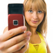 Royalty-Free Stock Photo: Woman photograph with cellphone
