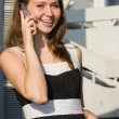 Businees woman speak cellphone — Stock Photo