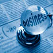 Globe and formula of business - Foto de Stock