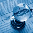 Globe and formula of business - Stockfoto