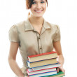 Stock Photo: Girl with books