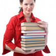 Stock Photo: Student girl with books