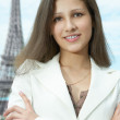 Business woman in paris — Stock Photo