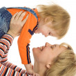 Happy family mother and baby — Stock Photo
