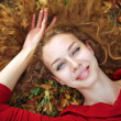 Beauty woman autuman portrait — Stock Photo