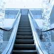 Escalator in modern building - Stock Photo