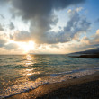 Sunset above sea - Stock Photo