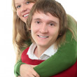 Stock Photo: Couple young man and woman