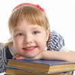 Little girl with book — Stock Photo #1212631