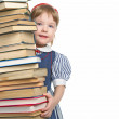 Little girl with book — Stockfoto