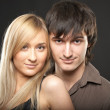 Stock Photo: Young couple mand woman