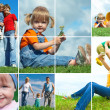 Happy family outdoors — Stock Photo #1213419