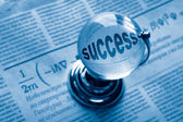 Globe and formula of succes — Stockfoto