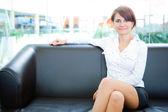 Businesswoman head of business — Stock Photo