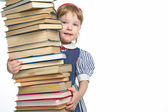 Little girl with book — Stock Photo