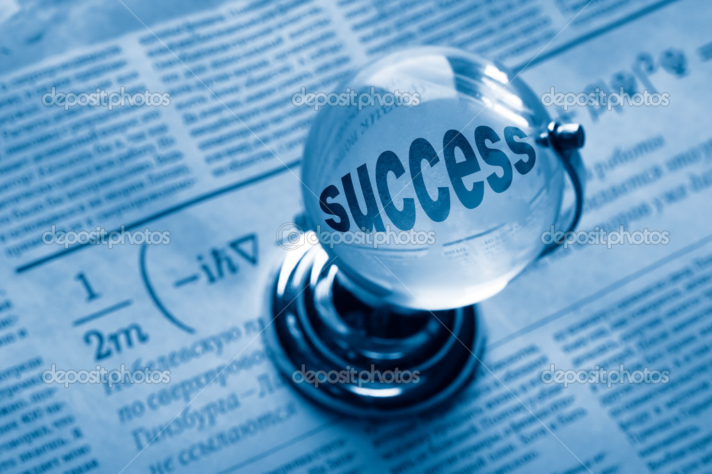 Globe and formula of succes on newspaper — Stock Photo #1210521