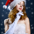 Portrait of a  christmas woman — Stockfoto