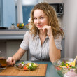 Woman on kitchen — Stock Photo #1672184