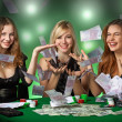 Poker players in casino — Stockfoto