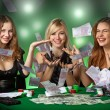 Poker players in casino — Stock Photo #2084454