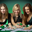 Poker players in casino — Stock Photo