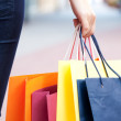 Beauty woman om shopping — Stock Photo