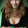 Poker player in casino — Stock Photo