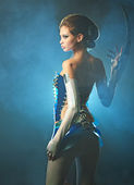 Bellezza donna aliena — Foto Stock