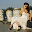 Trash the dress — 图库照片