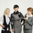 Businesswomen discussing — Stock Photo